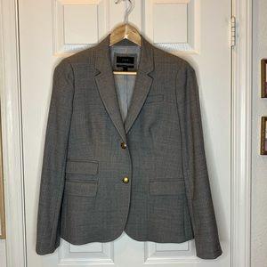 Woman's j crew jacket blazer coat gray size 8